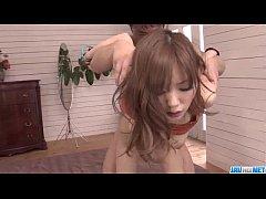 Voluptuous Megu Kamijyou gets fucked in threesome