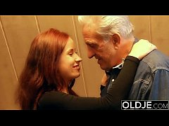Young slut hard fucked by old horny man he fuck...