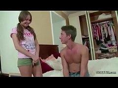 Brother Seduce Petite Step-Sister to Lost Virgi...