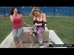 Roller Blade Sluts Sara Jay and Kendra Lust