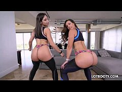 Threesome with big ass latina Kelsi Monroe and ...