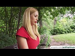 Russian blonde babe Isabella gets fucked in the...