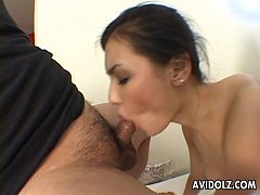Maria getting threesome fucked by the randy dud...