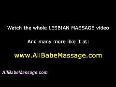 Horny lesbian babe rubs
