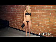 HD POV Stunning Horny Blonde wants you to Creampie