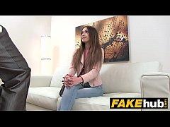 Fake Agent Skinny model makes hard sex an art f...