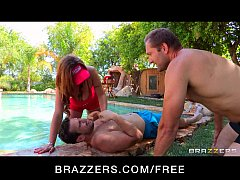 HOT brunette lifeguard with huge-tits Eva Notty fucks by the pool