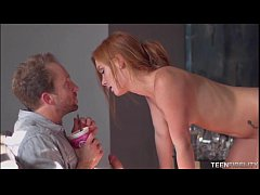 Freckled Faced Redhead Teen Alex Tanner Loves Older Big Cock