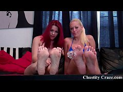 Lick your dirty chastity device clean