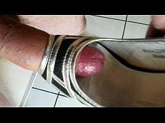 Cum in girlfriend's high heel shoe