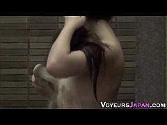Naked asian teens shower