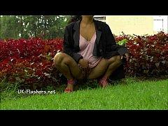 Amateur latina Beatriz public nudity and squirt...