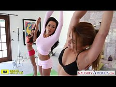 Athlete lesbians Charmane Star, Daisy Marie and...