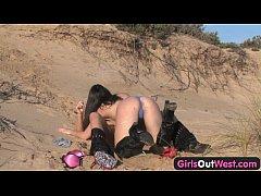 Australian lesbian girls on the beach