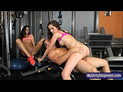 Hot milf and tight teen nasty threesome sex in ...