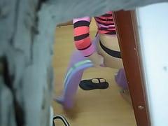 desnuda espiada en el vestidor