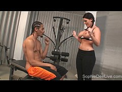 Sophie Dee's Gym Blowjob