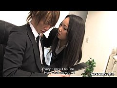 Asian office worker getting fucked and thrashed