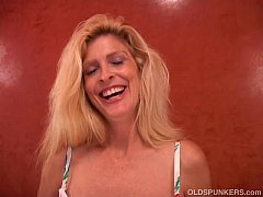 busty old blonde spunker fucks her wet pussy for you