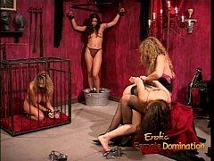 Kinky dominatrix enjoy spanking and whipping a ...