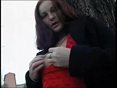Outdoor cum for a real Bitch!