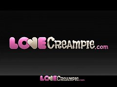 Love Creampie Horny young girl enjoys oily mass...