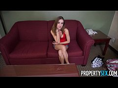 PropertySex - Sleazy landlord collects rent by fucking hot tenant on camera