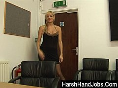 Blonde punishes a dick