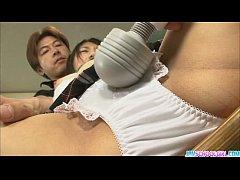 Double cock action for the naughty schoolgirl Yuri