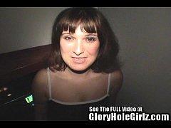 Brunette milf Cindi in the gloryhole