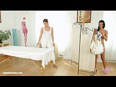 Mira Sunset and Vivien Bell in Sapphic massage lesbian scene by SapphiX