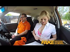 Fake Driving School Posh busty blonde examiner ...