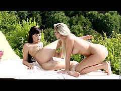 Lapping Duo by Sapphic Erotica - lesbian love porn with Carie - Anetta