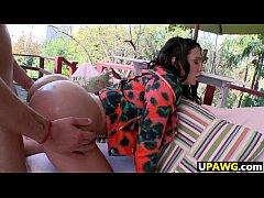 Big booty white girl Amy Anderssen fucked hard