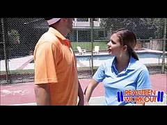 Bratty Teen Fucked By Tennis Coach - RealTeenWo...