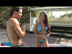 Busty babe Capri Cavanni fuck outdoors