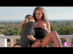 Stunning Lesbian Cuties in Outdoor sex - Viv Th...