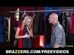 SEXY blond coat check girl gets a big tip at th...