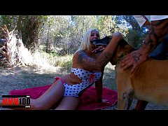 Hot blonde babe fucked hard in the woods  by Rob Diesel large cock