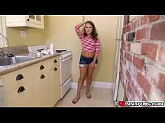 Brooke Bliss suck his step bros big cock to get...