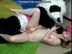 Teens dancing with Panda turns into crazy fuck