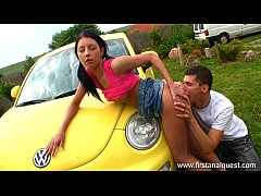 Firstanalquest.com - ANAL CLOSE UP OUTDOORS SHOWS HER GAPING TEEN ASSHOLE