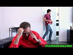 Teen sneaks his dick inside his stepmom