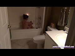 Mom In Bath Tub Masturbates To Son