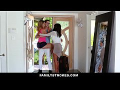 FamilyStrokes - College Bro Cums Home To Horny SIs