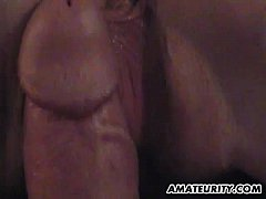 Amateur girlfriend action with cum in mouth