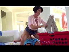 Mommy Shay Fox help you while doing her chores