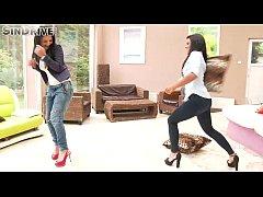 Amazing brunette's in jeans (Aysha Rouge & Maria Fiori)