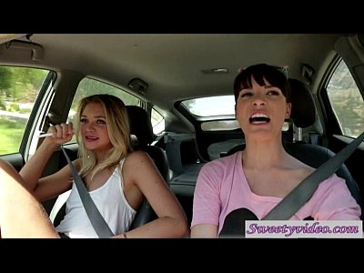 Jessie andreews and dana dearmond lick n rub pussies in car