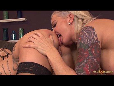 Lesbians Babes Toys video: Big boob MILF lesbians in a threeway
